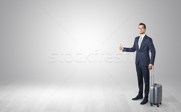 Agent hitchhikes concept with copy space around Stock photo © ra2studio