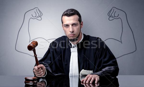 судья решение молодые дизайна назад Сток-фото © ra2studio