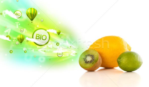Colorato succosa frutti verde eco segni Foto d'archivio © ra2studio