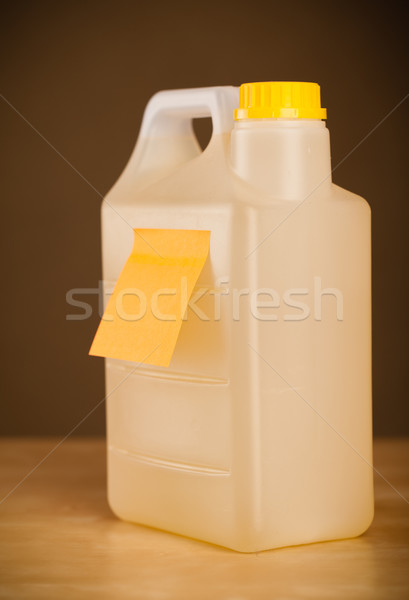 Lege nota gallon sticky note papier gelukkig Stockfoto © ra2studio