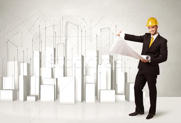 Сток-фото: 3D · зданий · бизнеса · город · строительство