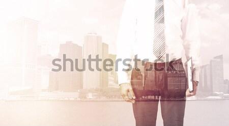 ビジネスマン 立って 景観 光 ビジネス ストックフォト © ra2studio