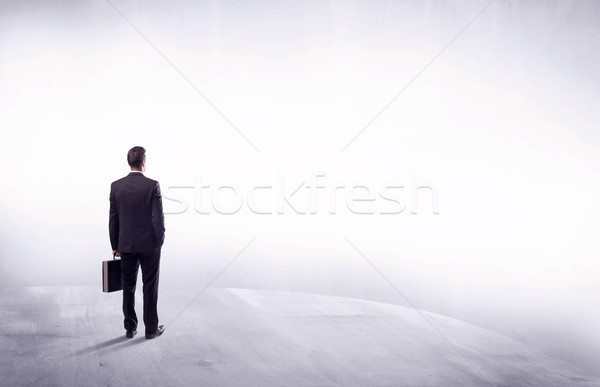 事業者 立って 背面図 小さな 販売 ビジネスマン ストックフォト © ra2studio