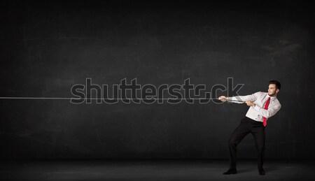 Businesswoman making gestures Stock photo © ra2studio