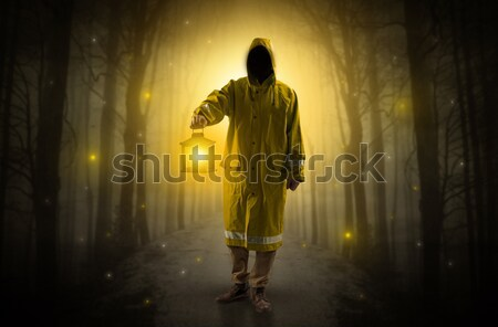 Guard in an abandoned space after explosion Stock photo © ra2studio