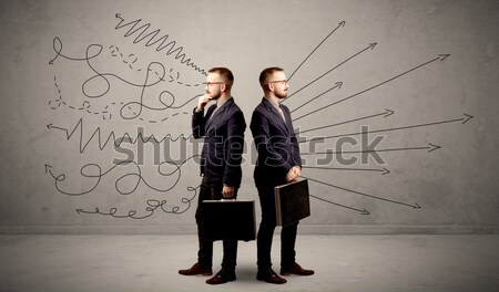 бизнеса бизнесмен сокрытие оружием плана вокруг Сток-фото © ra2studio