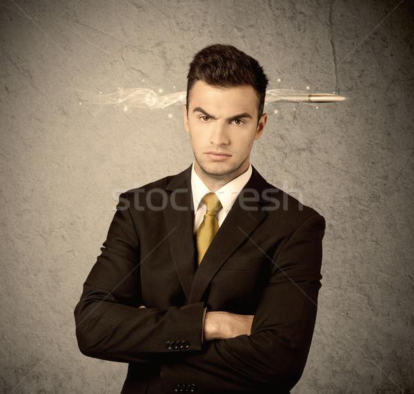 Szybko twórczej sprzedaży facet palenia punkt Zdjęcia stock © ra2studio