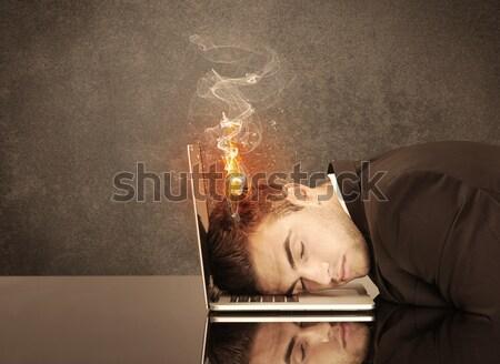 Triest business hoofd brand Stockfoto © ra2studio