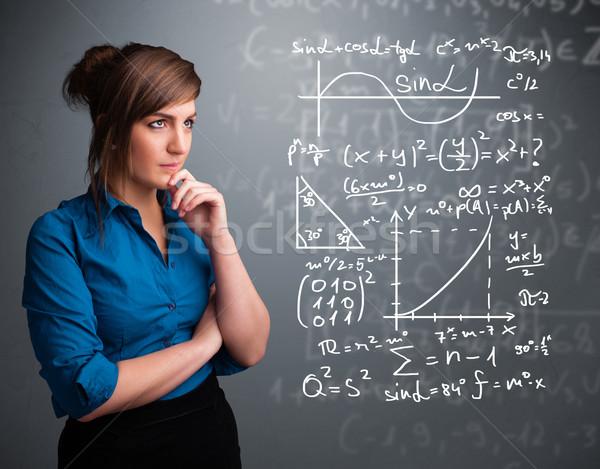 красивой мышления комплекс математический признаков Сток-фото © ra2studio