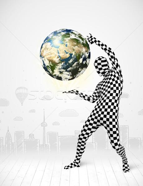 男 スーツ 地球 面白い ストックフォト © ra2studio