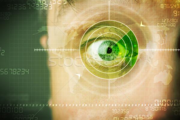 Stock fotó: Modern · férfi · technológia · cél · katonaság · szem