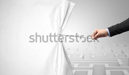 Stock fotó: üzletember · legelő · hát · üres · üzlet · fű