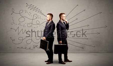 Angry business handshake concept Stock photo © ra2studio