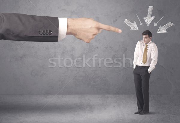 Amateur zakenman druk kantoor baas jonge Stockfoto © ra2studio