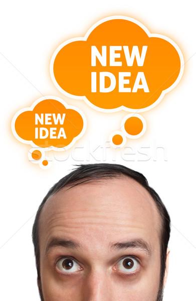 Funny Young man having an idea 2 Stock photo © ra2studio
