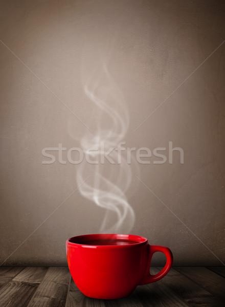 Сток-фото: чашку · кофе · аннотация · белый · пар · продовольствие