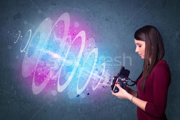 Сток-фото: фотограф · девушки · фотографий · мощный · свет