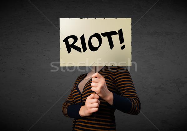 Protesta signo demostración bordo Foto stock © ra2studio