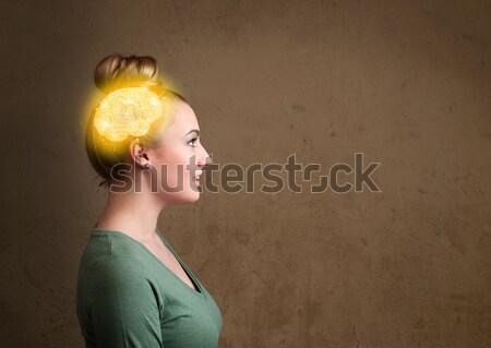 女性 周りに 頭 ビジネス セクシー ストックフォト © ra2studio