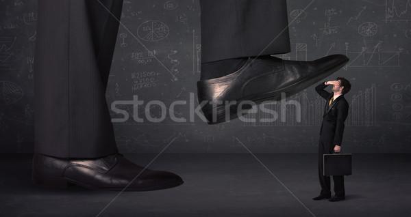 Enorme gamba minuscolo business lavoro sfondo Foto d'archivio © ra2studio