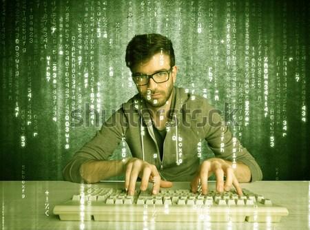 Online l'hacking progresso database Foto d'archivio © ra2studio