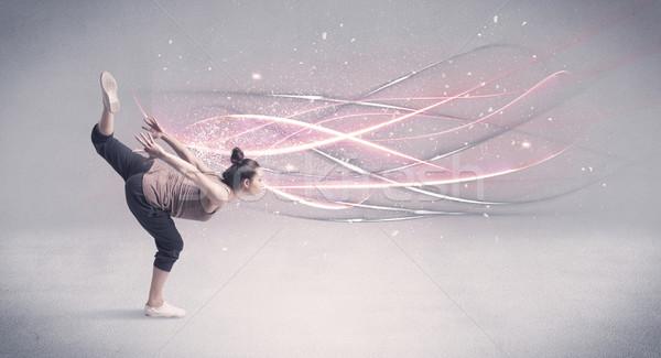 Funky urbaine danseur lignes joli Photo stock © ra2studio