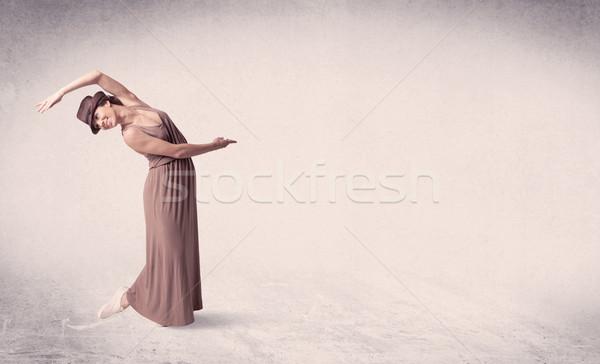 Nowoczesne baletnica sztuki skok pusty Zdjęcia stock © ra2studio