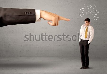 Verward werknemer om baas jonge amateur Stockfoto © ra2studio