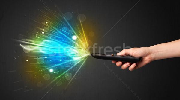 手 リモコン 爆発的 信号 ストックフォト © ra2studio
