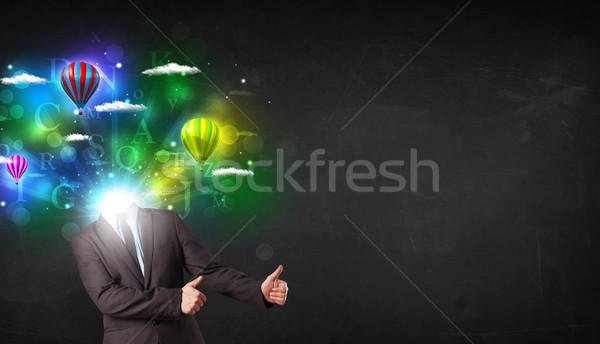 Adam takım elbise rüya gibi iş Stok fotoğraf © ra2studio