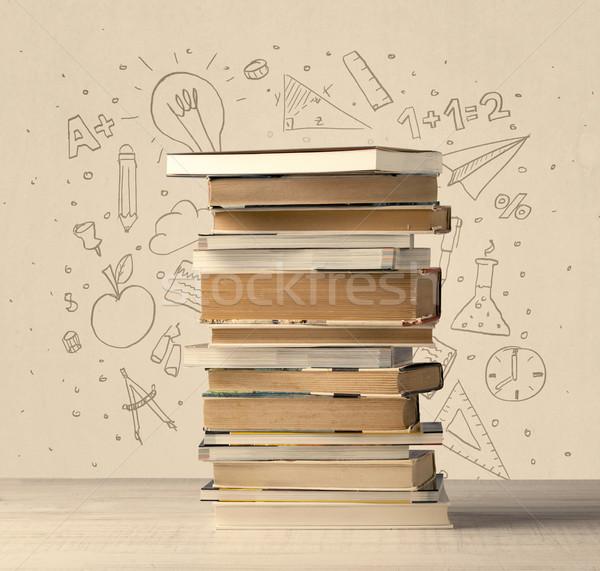 図書 表 学校 手描き いたずら書き ストックフォト © ra2studio
