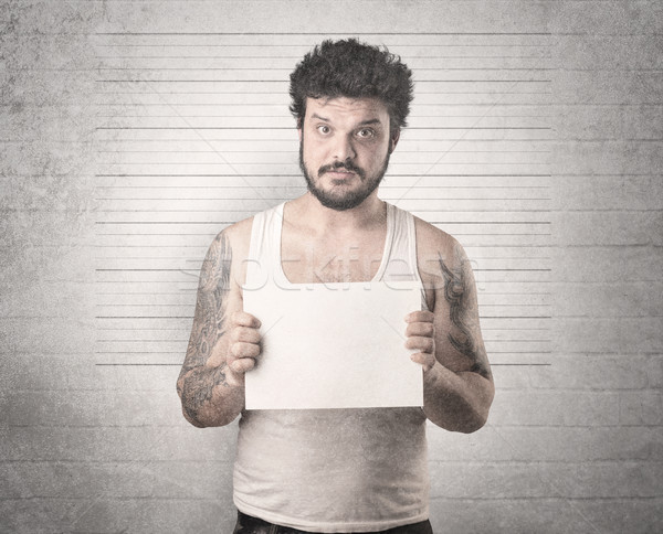 Gangster hapis duvar tablo el adam Stok fotoğraf © ra2studio