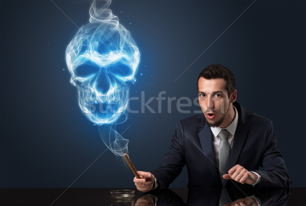 Businessman smoking concept Stock photo © ra2studio