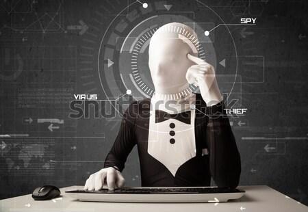 Identità futuristico l'hacking personale informazioni Foto d'archivio © ra2studio