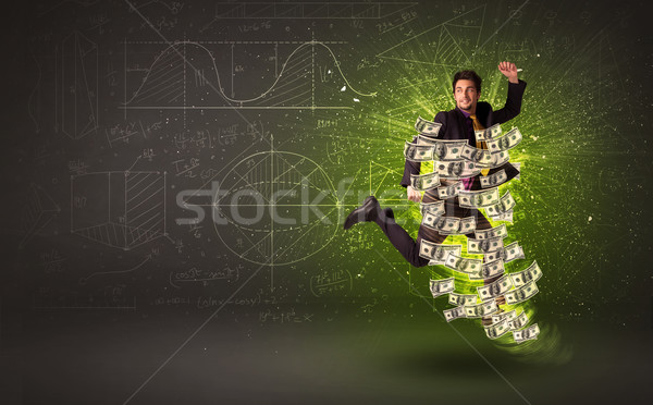 прыжки доллара вокруг деньги Сток-фото © ra2studio