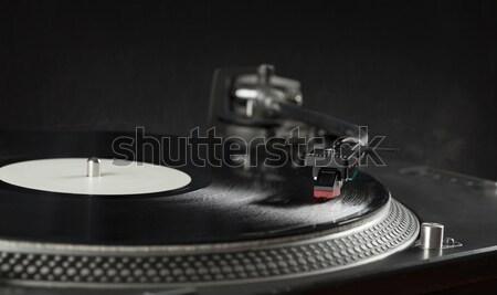 Draaitafel spelen vinyl naald record Stockfoto © ra2studio