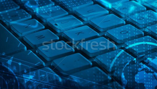 ストックフォト: キーボード · アイコン · コンピュータのキーボード · 技術 · 作業