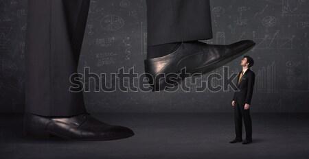 Ogromny nogi malutki działalności pracy tle Zdjęcia stock © ra2studio
