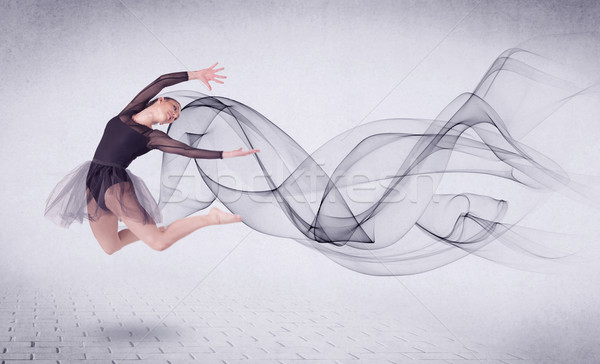 Moderne balletdanser abstract swirl mode Stockfoto © ra2studio