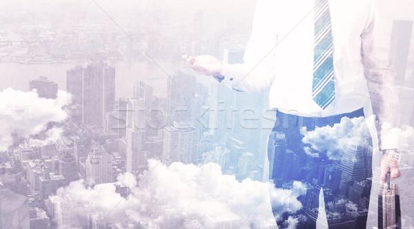 ビジネスマン 立って 市 ビジネス 男 ストックフォト © ra2studio