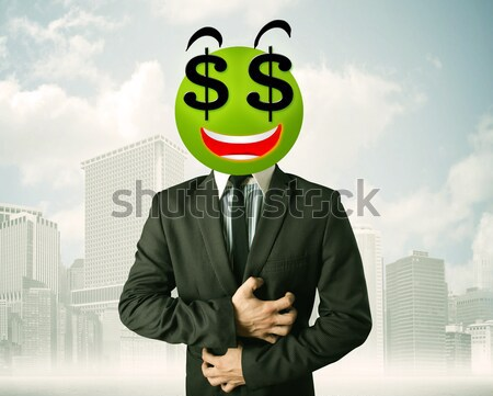 Man dollarteken zakenman business gelukkig Stockfoto © ra2studio