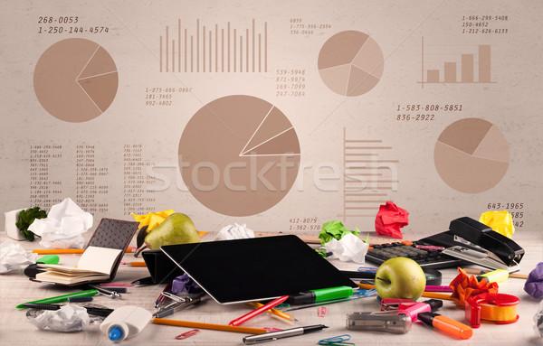 円グラフ グラフ グラフィック ビジネス パイ ストックフォト © ra2studio