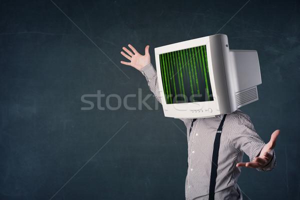 Umani monitor schermo computer codice business Foto d'archivio © ra2studio