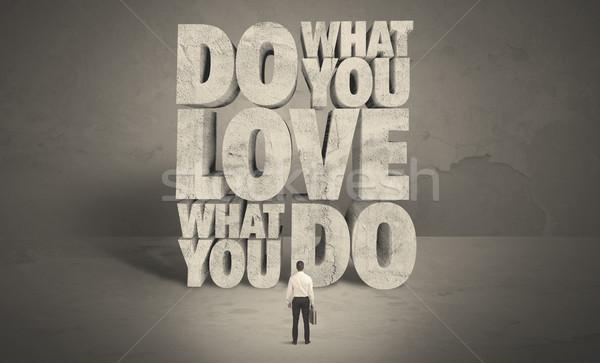 Businessman with love what you do advice Stock photo © ra2studio