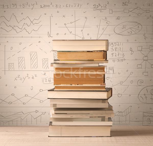 Pfund math Formeln geschrieben Doodle Stock foto © ra2studio