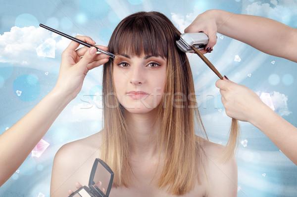 Pretty girl portrait in beauty salon  Stock photo © ra2studio