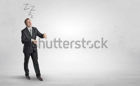 человека самоубийства молодые бизнесмен костюм исполнительного Сток-фото © ra2studio