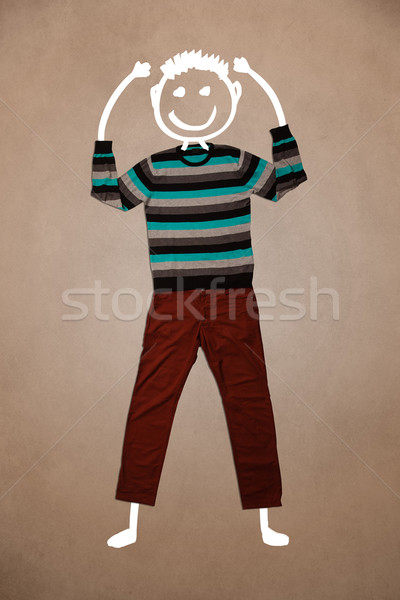 Casual clothes with hand drawn funny character Stock photo © ra2studio