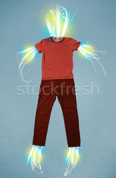 Energia nyaláb lezser ruházat fény üzlet Stock fotó © ra2studio