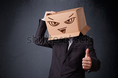 Jonge man hoofd kwaad permanente Stockfoto © ra2studio